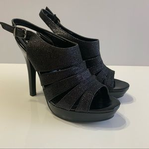 Novo Black Party Platform Heels Size 7